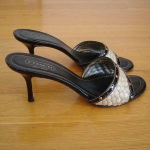 COACH Janna Sz 9B Open-Toe Studded Sandals/Heels